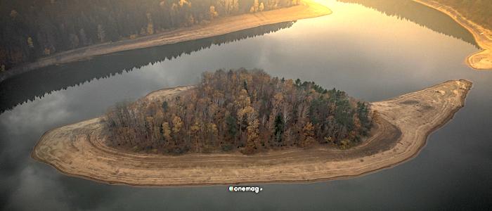 La regione di Pardubice, il lago di Sec