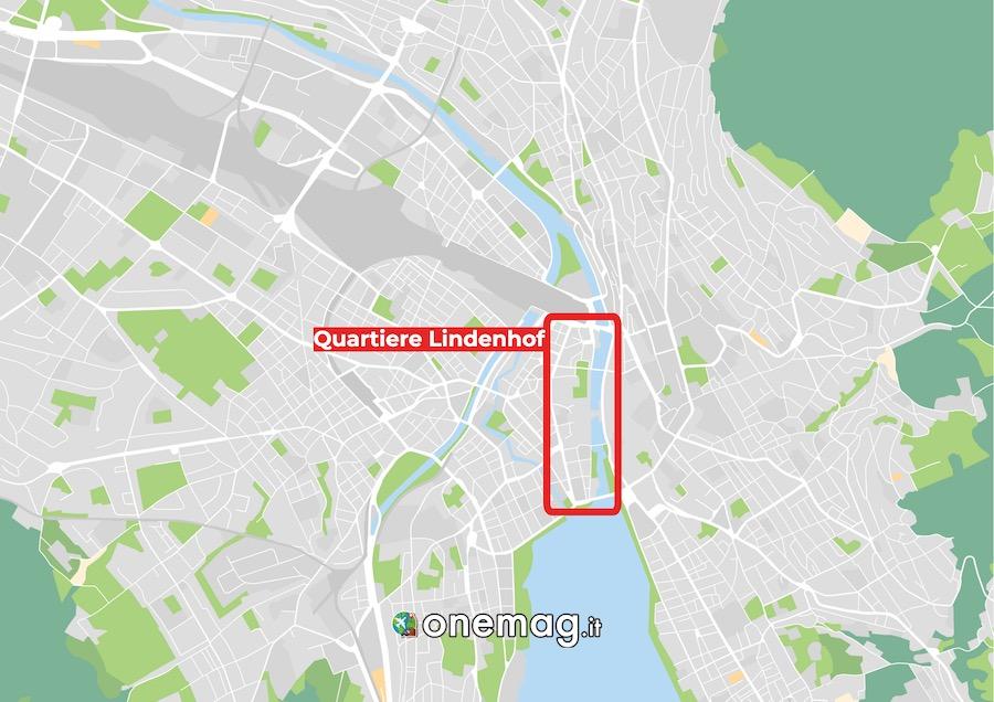 Mappa Quartiere Lindenhof, Zurigo