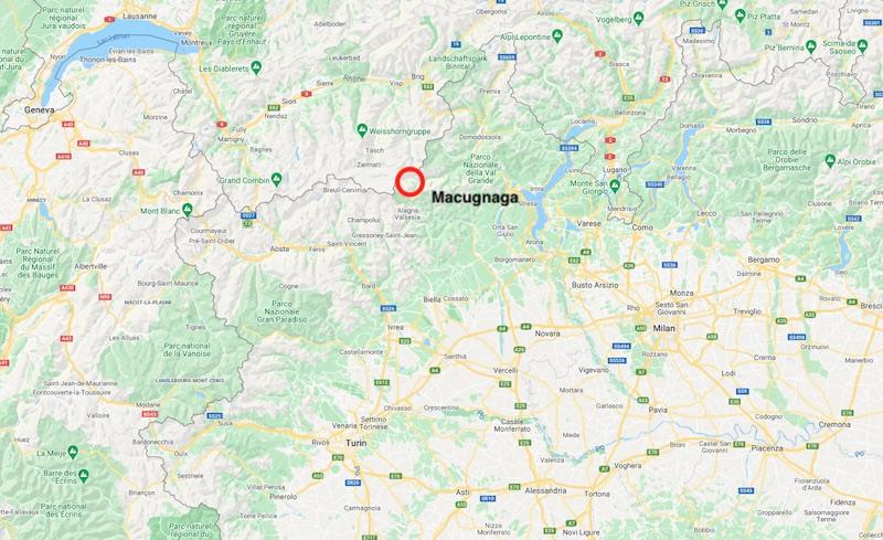 Mappa di Macugnaga