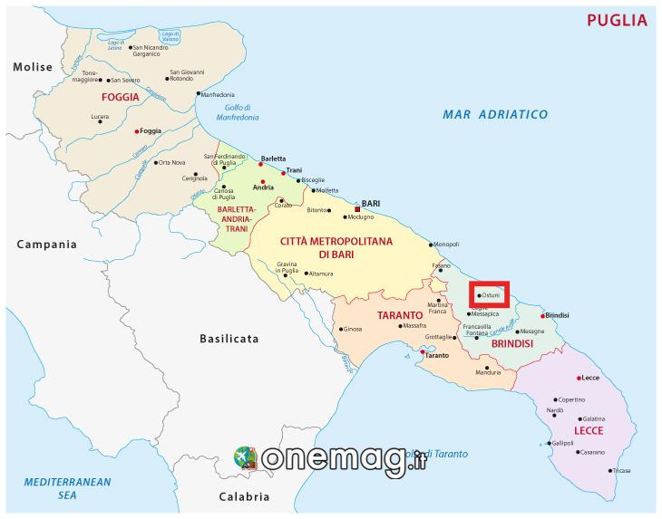 Mappa di Ostuni, Puglia