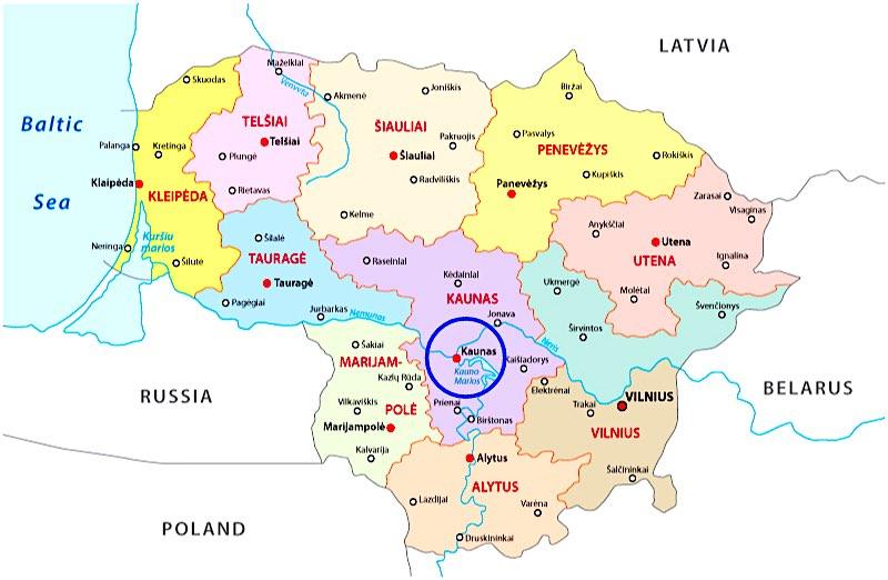 Mappa Kaunas, Lituania