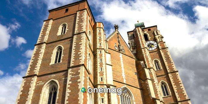La facciata della Cattedrale di Ingolstadt
