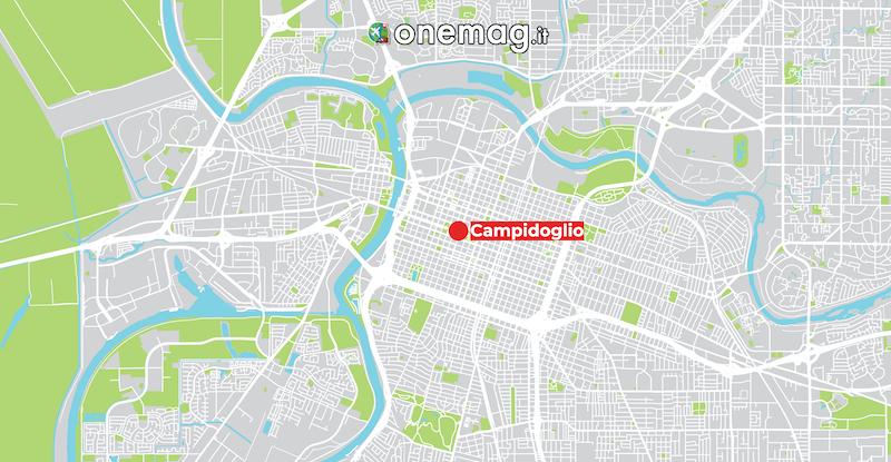 Il Campidoglio di Sacramento, mappa