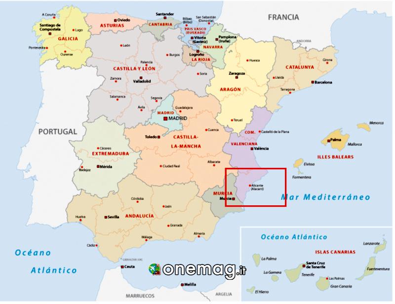 Mappa di Alicante