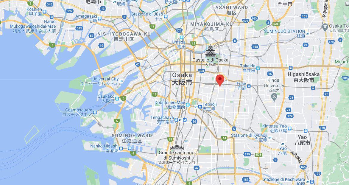 Mappa di Tsuruhashi, Osaka