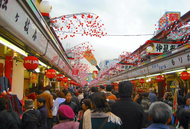 Cosa vedere ad Asakusa, strada pedonale