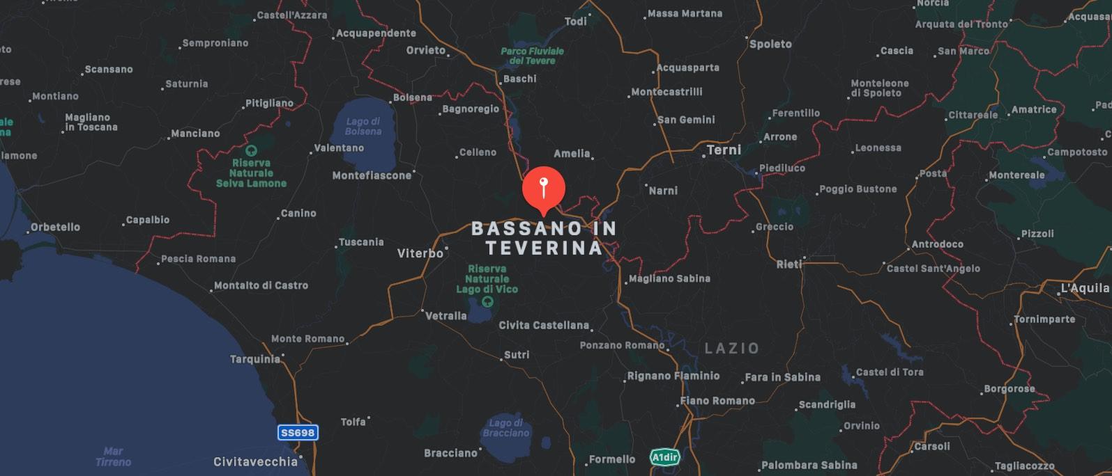 Mappa di Bassano in Taverina