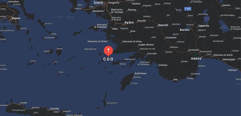 Mappa di Coo