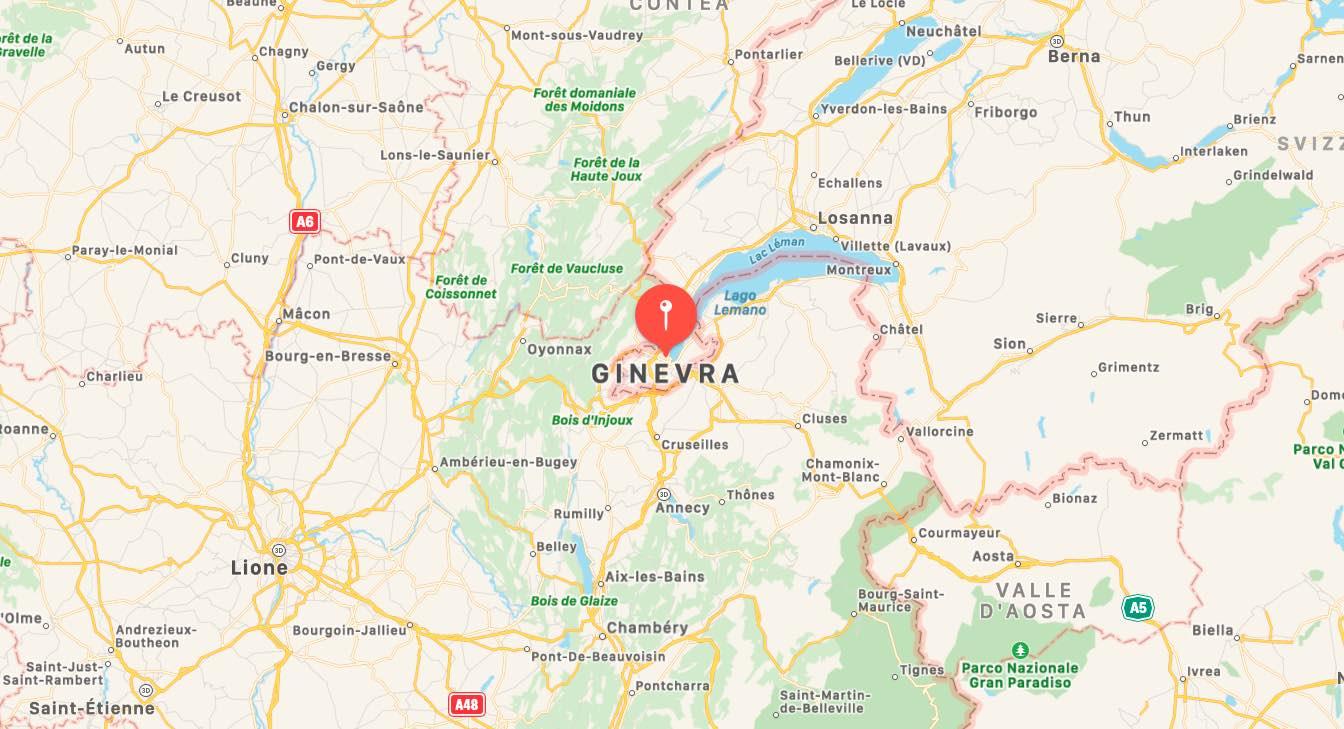 Mappa di Ginevra