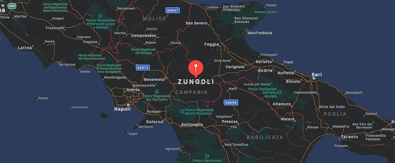 Mappa di Zungoli