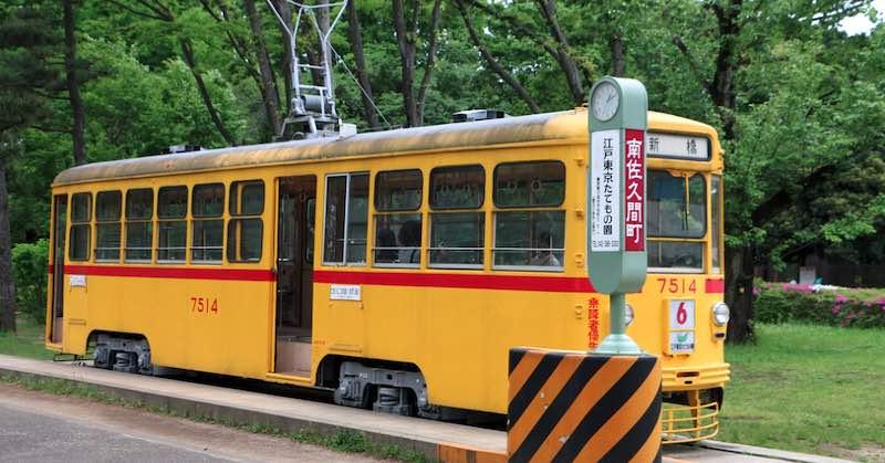 Tram - Museo architettonico all'aperto di Edo-Tokyo