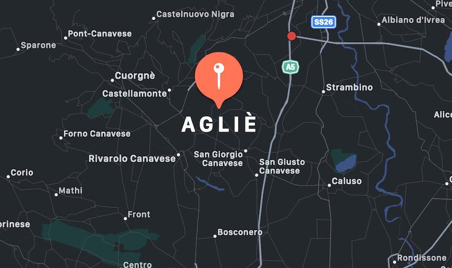 Cosa vedere ad Agliè, mappa