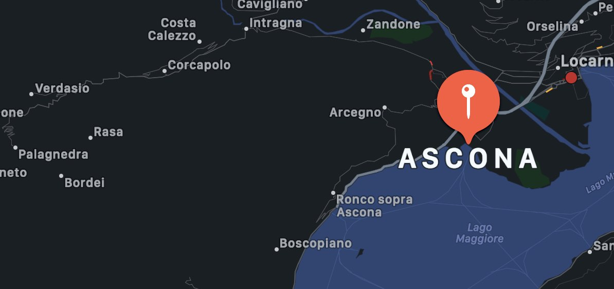 Cosa vedere ad Ascona, mappa