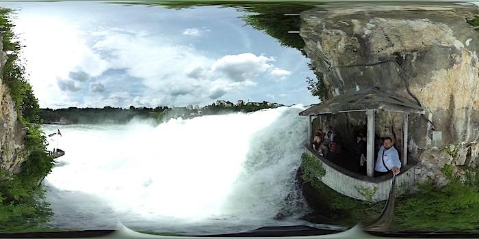 Le cascate del Reno, veduta