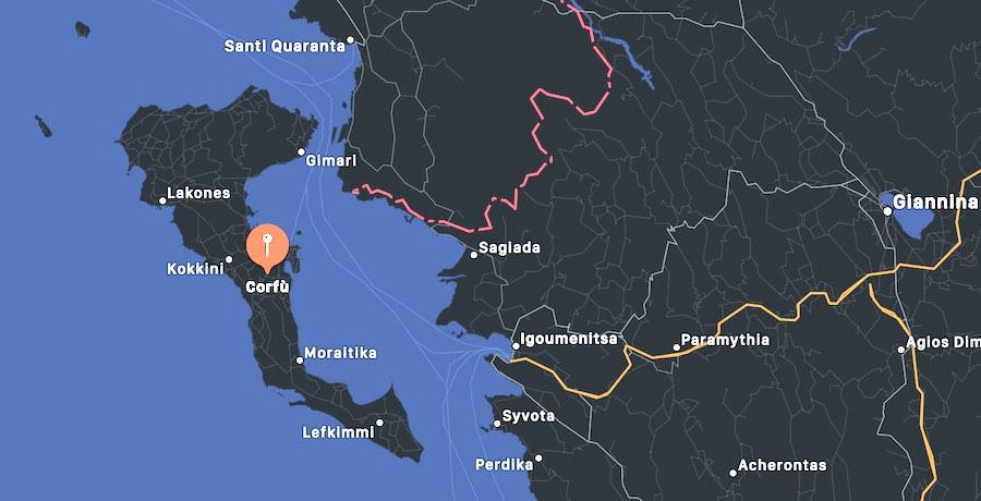 Cosa vedere a Corfù, mappa