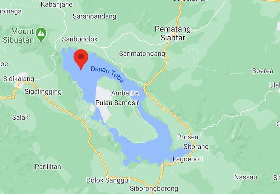 Il lago di Toba, mappa