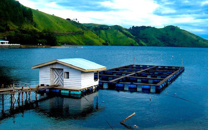 Il lago di Toba in Indonesia, veduta