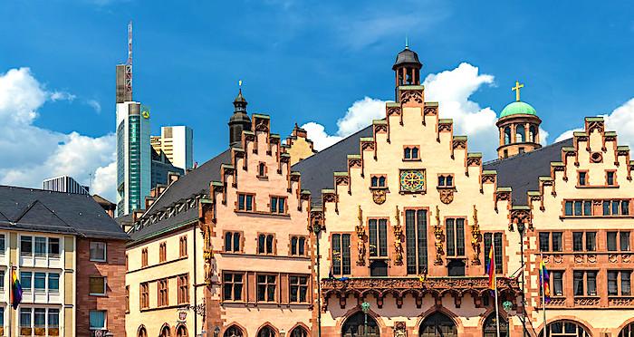 Il Vecchio Municipio di Francoforte, facciata