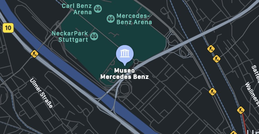 Il Museo Mercedes Benz di Stoccarda, mappa