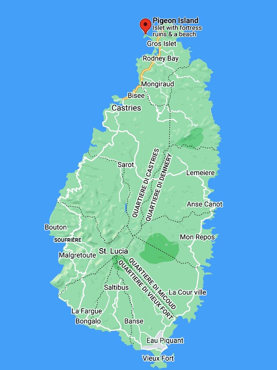 Cosa vedere a Santa Lucia, mappa dettagliata
