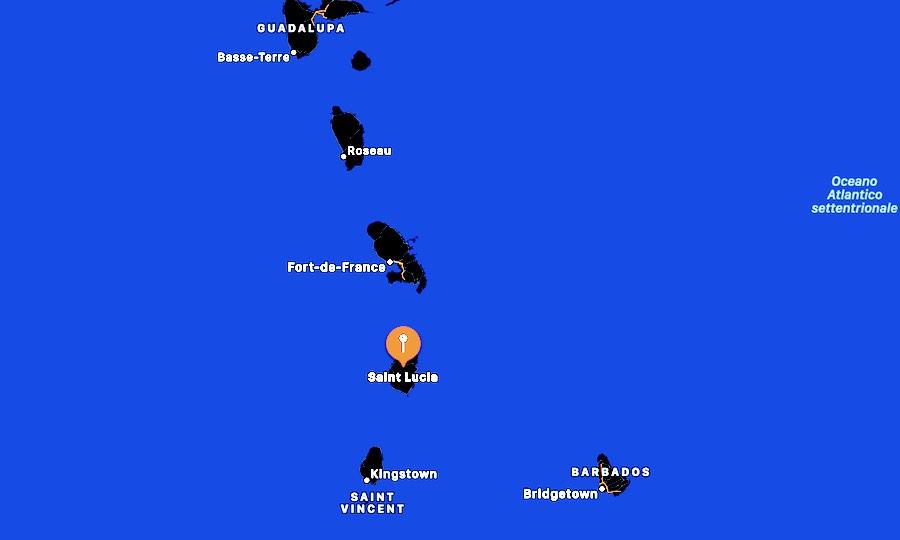 Cosa vedere a Santa Lucia, mappa