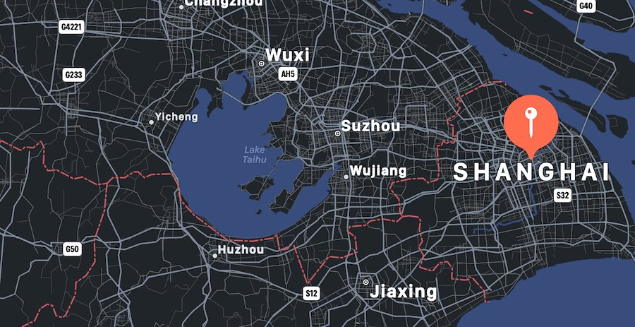 Cosa vedere a Shanghai, mappa