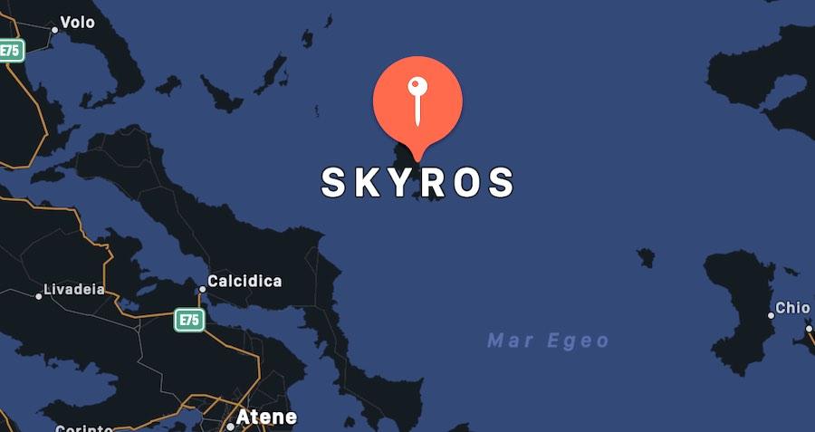 Cosa vedere a Syros, mappa