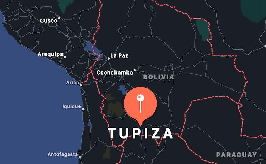 Cosa vedere a Tupiza, mappa