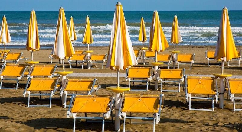 La spiaggia del Lido degli Estensi