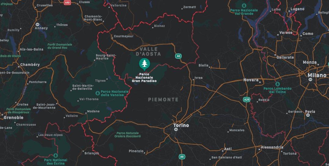 Mappa Parco Nazionale Gran Paradiso