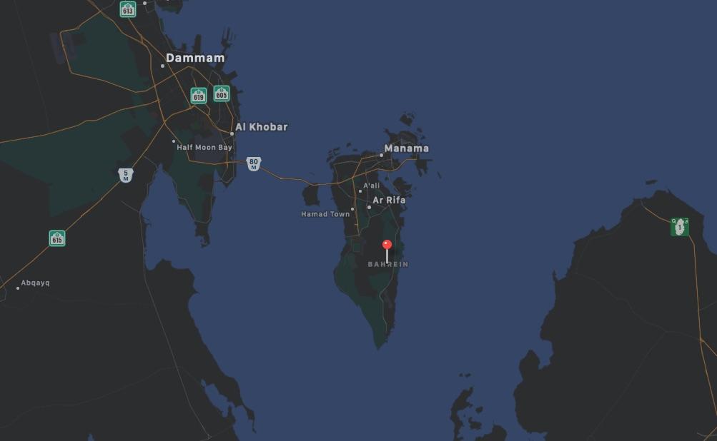 Mappa del Bahrein