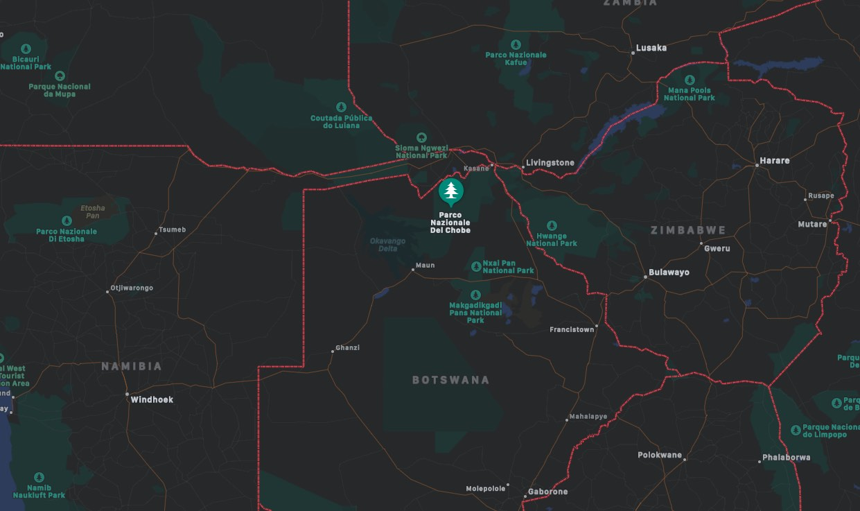 Mappa del Chobe National Park