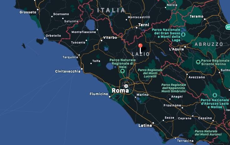 Mappa del Lazio