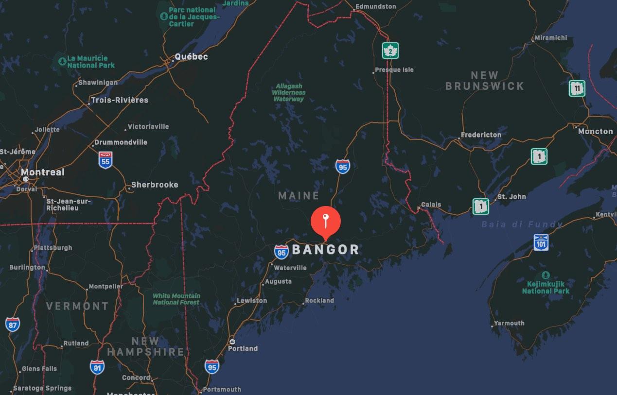 Mappa di Bangor, Maine
