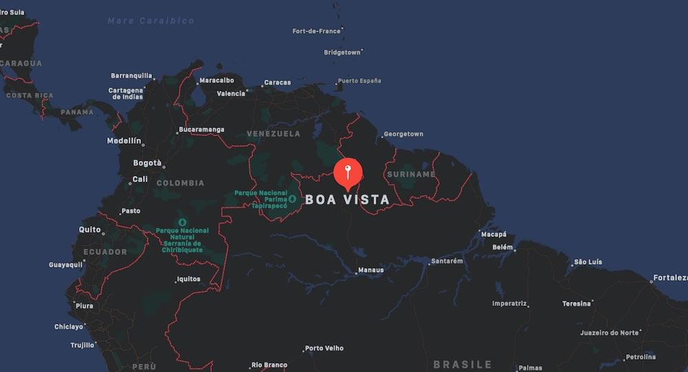 Mappa di Boa Vista, Brasile