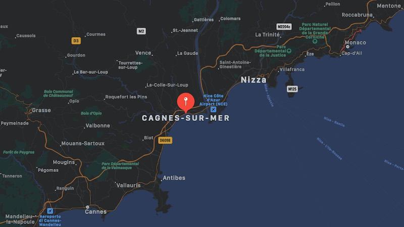 Mappa di Cagnes-sur-Mer | Dove si trova Cagnes-sur-Mer in Francia