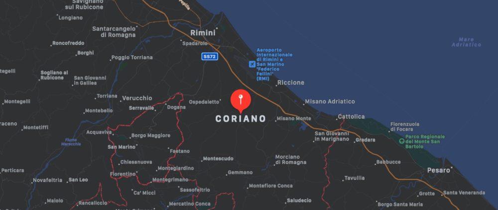 Mappa di Coriano