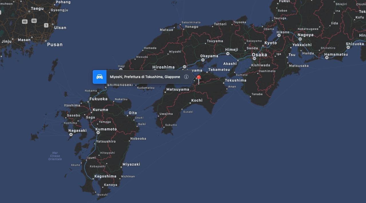 Mappa di Miyoshi (Tokushima)