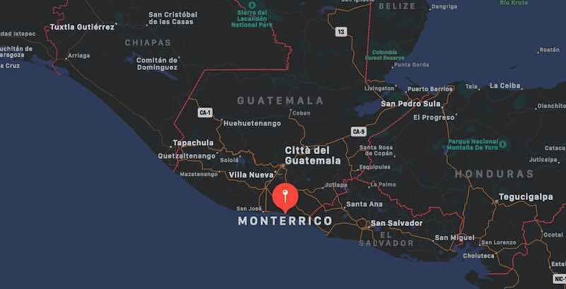 Mappa di Monterrico, Guatemala
