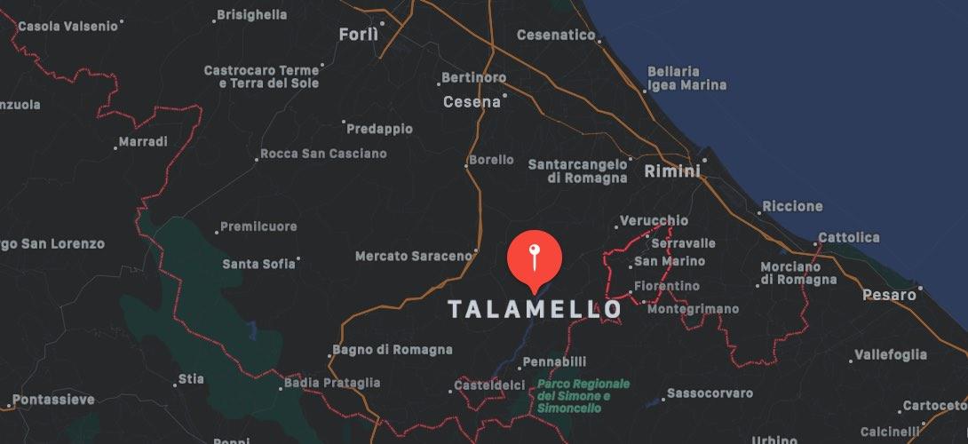Mappa di Talamello, Rimini