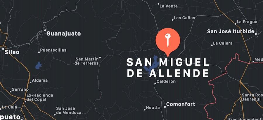 Cosa vedere a San Miguel de Allende, mappa