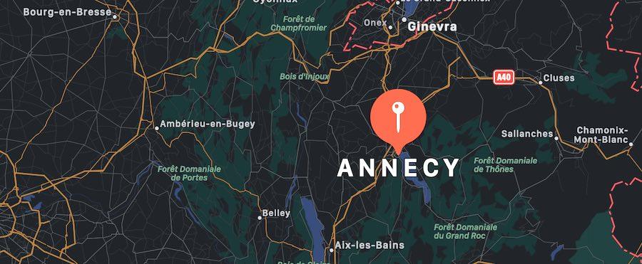 Cosa vedere ad Annecy, mappa