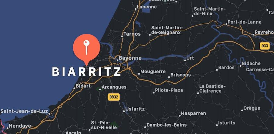 Cosa vedere a Biarritz, mappa