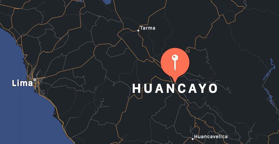 Cosa vedere a Huancayo, mappa