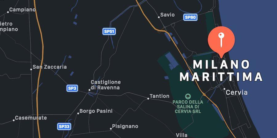 Cosa vedere a Milano Marittima, mappa