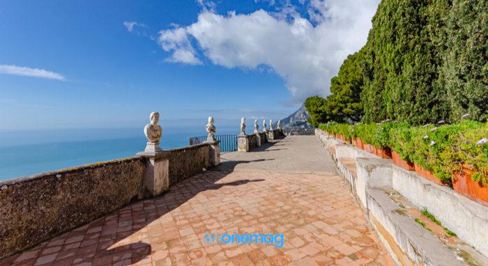 Il belvedere, il cosiddetto Terrazzo dell'lnfinito di Villa Cimbrone.