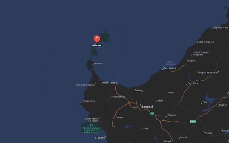 Mappa Isola dell'Asinara, Sardegna