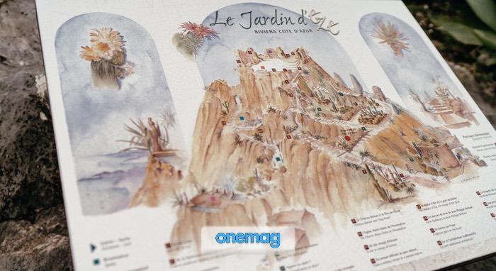 Mappa del Giardino Esotico di Eze