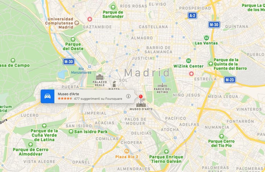 Mappa del Museo Reina Sofia, Madrid