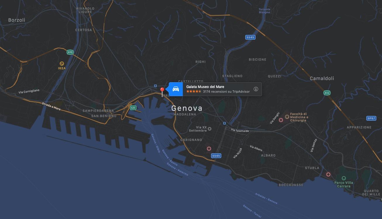 Mappa del Museo del Mare
